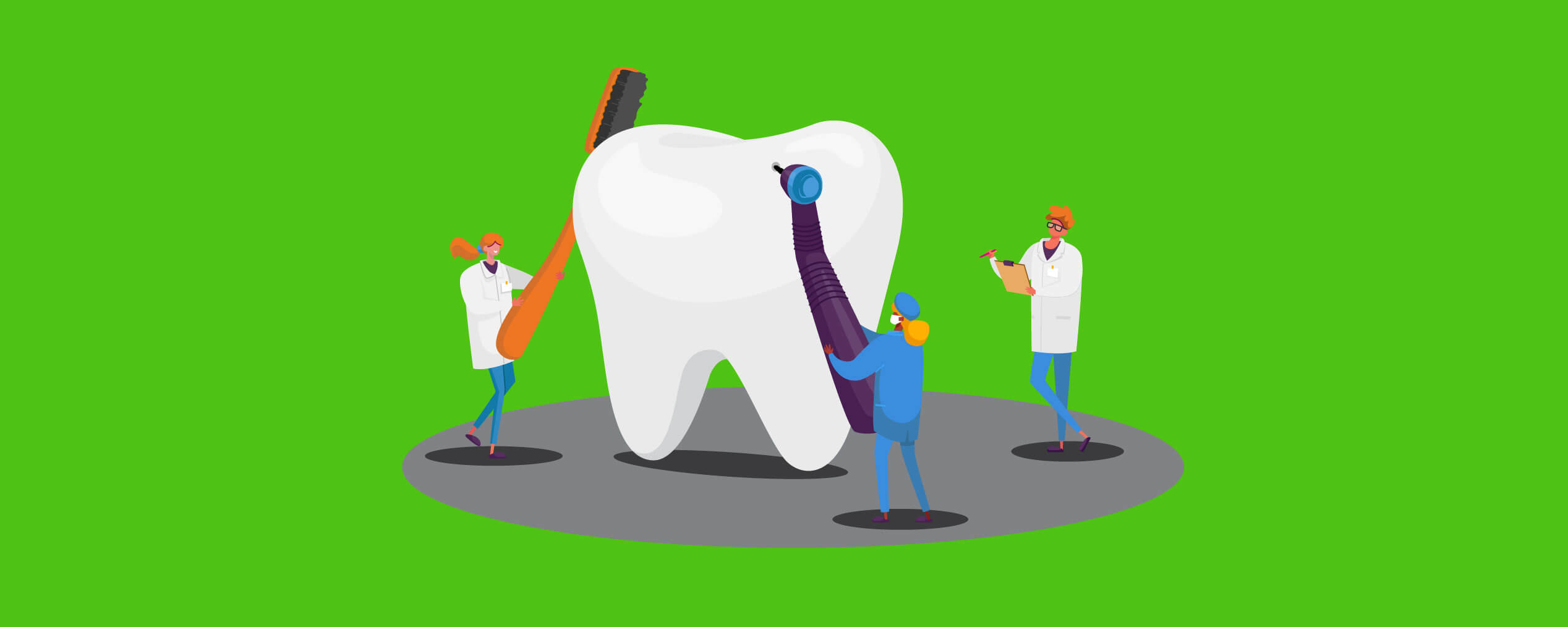 Graphic of a tooth being cleaned to show that personal loans are not as painful as the dentist.